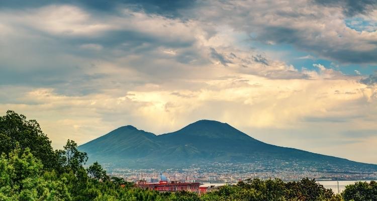 Mount Vesuvius near Naples italy