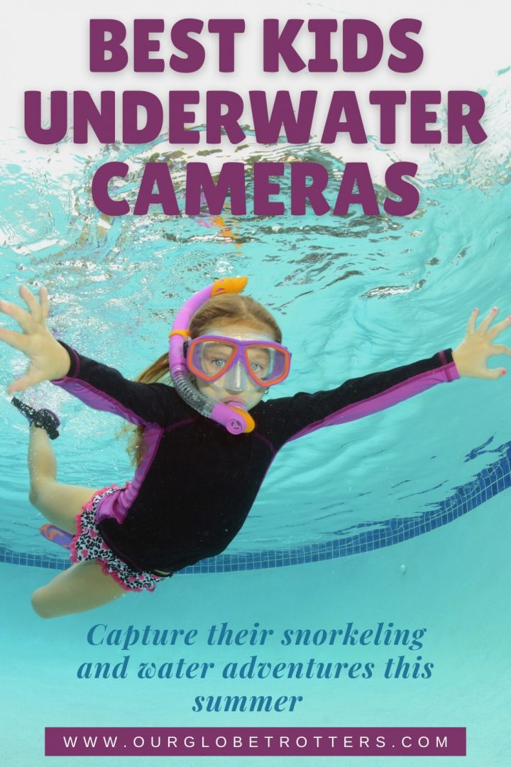 Girl snorkelling underwater best kids action camera