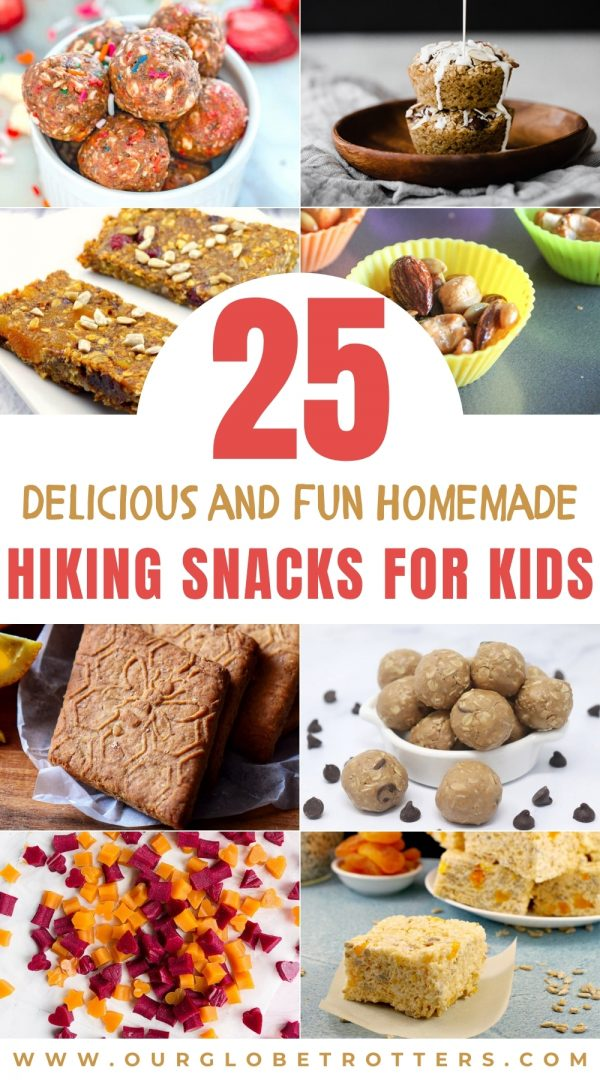 selection of healthy homemade kids snacks