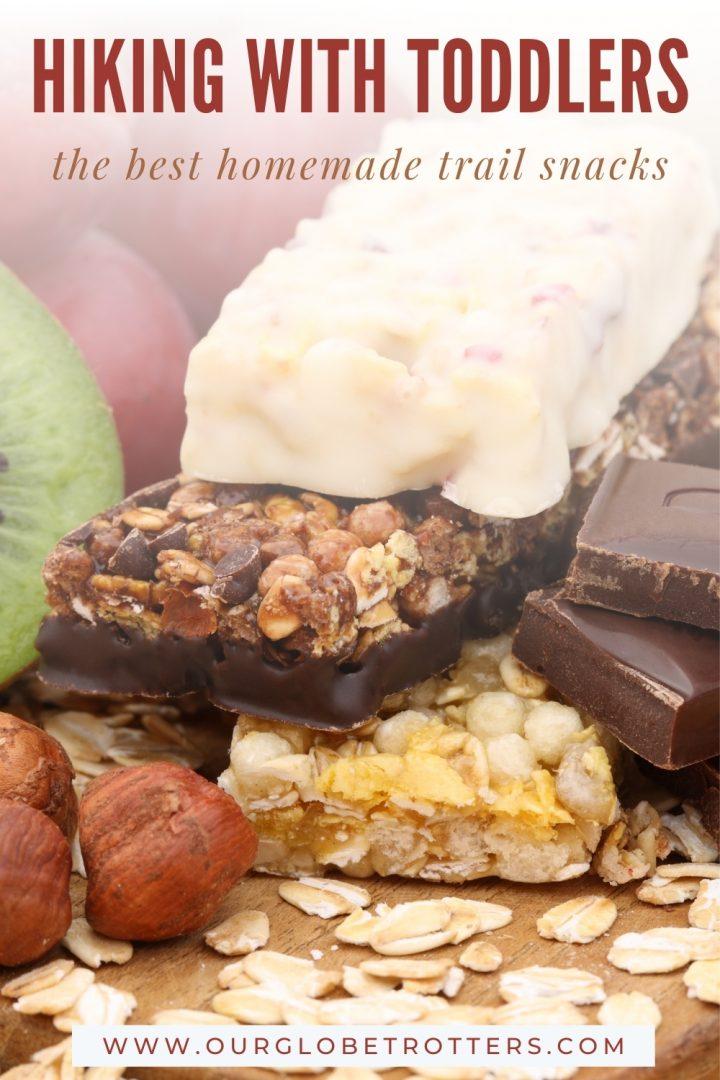 Homemade cereal bars, health snacks for toddler hiking