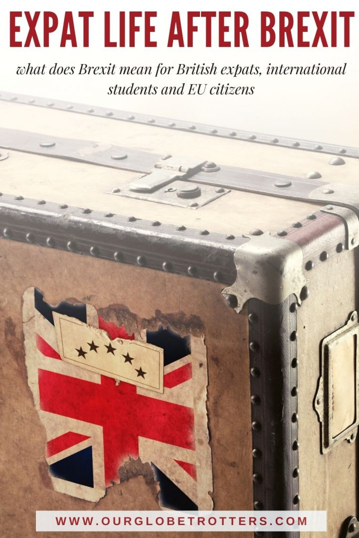 Battered suitcase with union jack sticket - life after brexit for expats