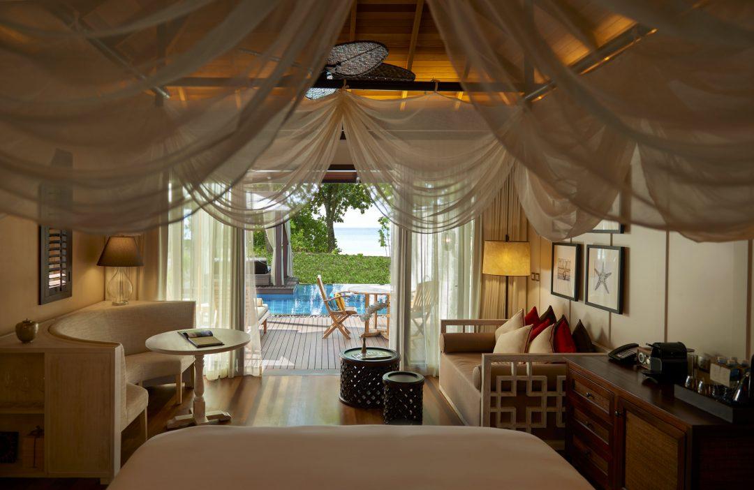 inside of a villa at STORY Seychelles