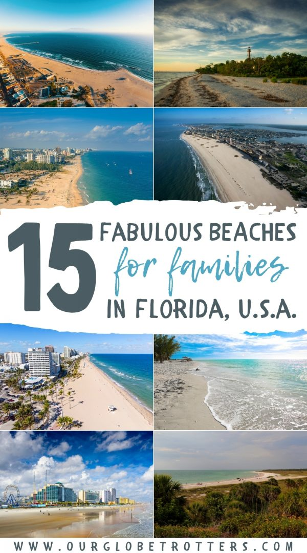 15 Fabulous Beaches for families in Florida USA - a aollage of florida beach scenes