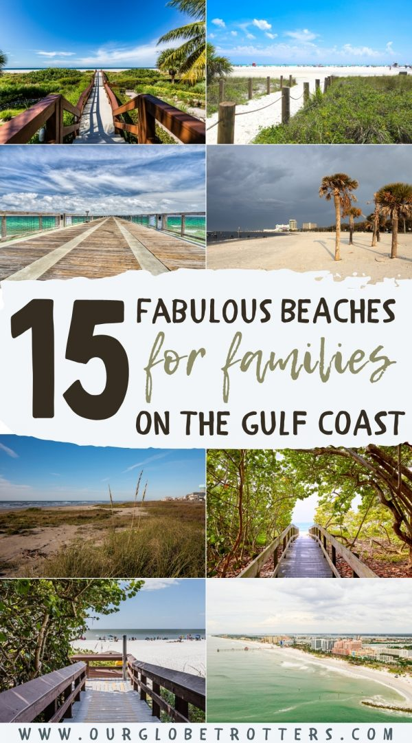15 Best Beaches on the Gulf Coast - collage of US Gulf coast beach images