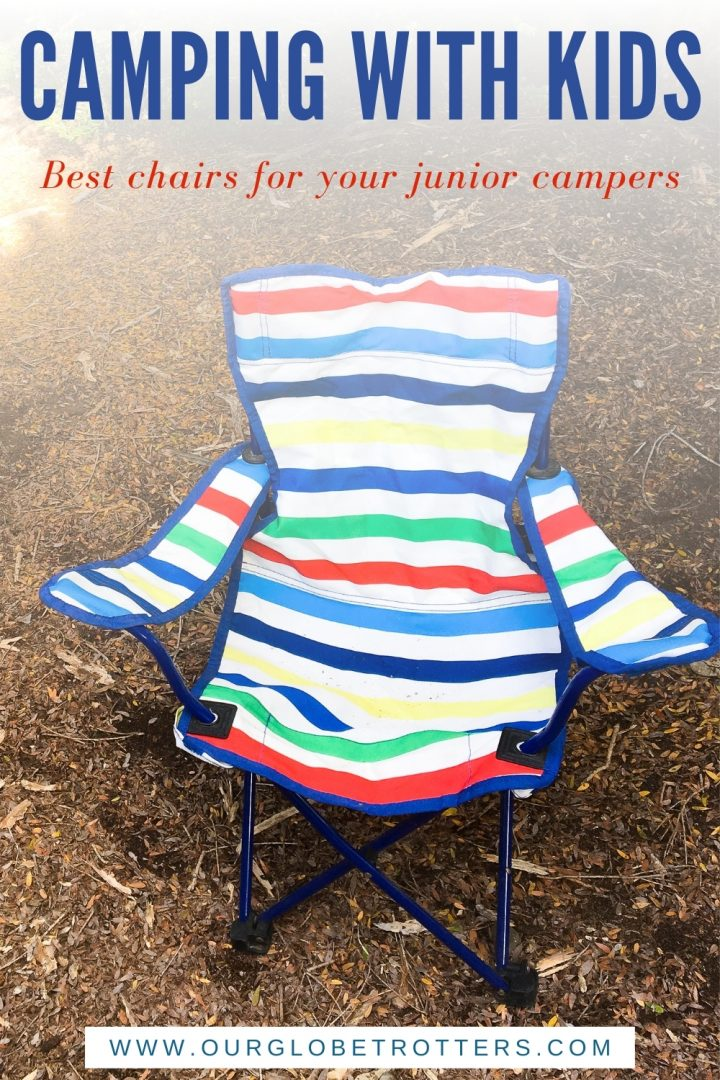 a stripey kids camping chair - caption camping with kids best chairs for your jnior explorers