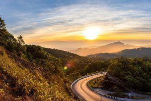 a road tin Chiang Mai Thailand