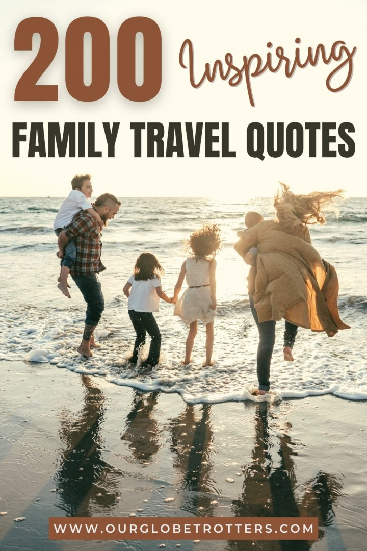 200 Inspiring Family Travel Quotes - Family playing on the beach