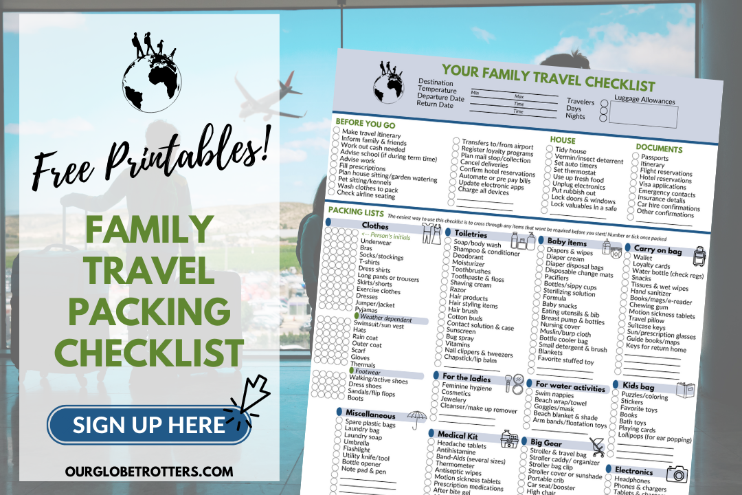 Packing List Sign Up - Family