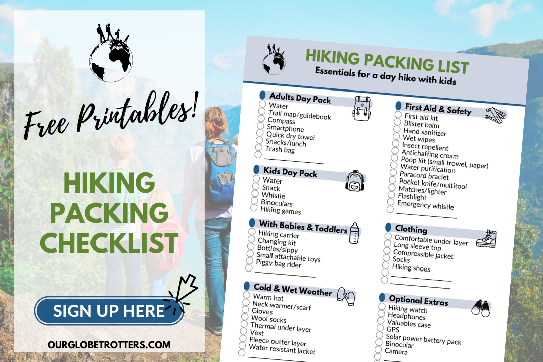 Packing List Sign Up - Hiking