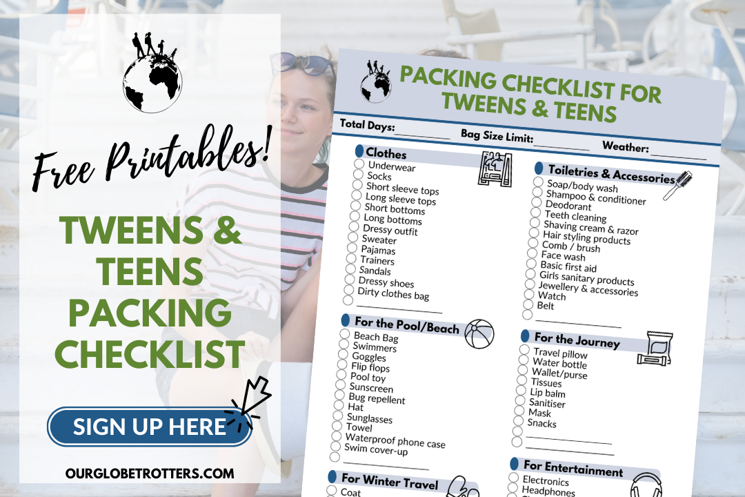 Packing List Sign Up - Teen