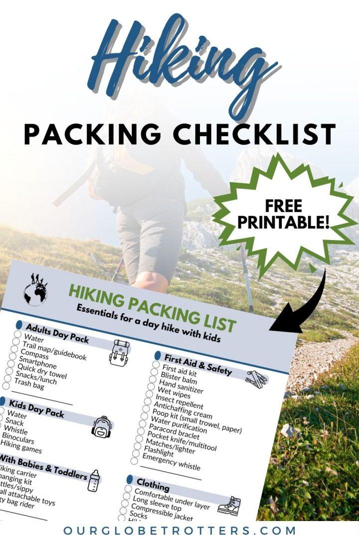 Printable Checklist - Hiking 2