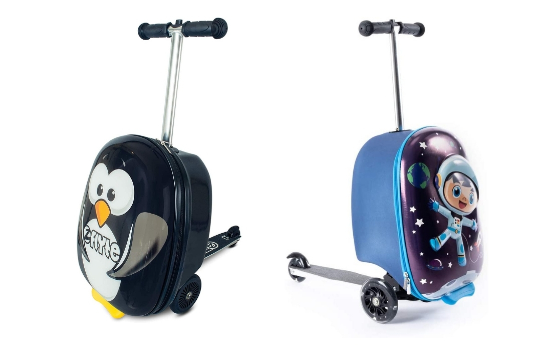 two different types of scooter suitcase