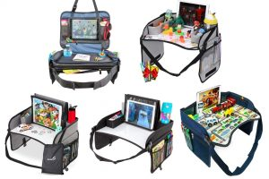 A selection of car seat travel trays