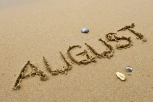 August written in the sand