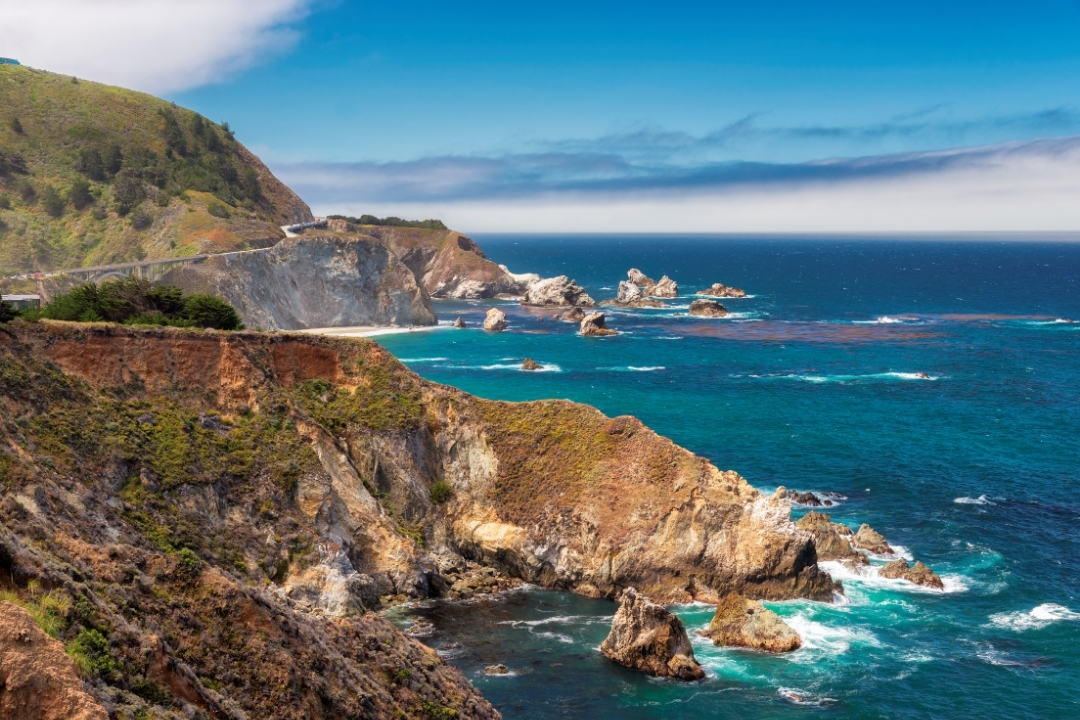 Dramtic Coast Line Highway 1 West Coast USA California