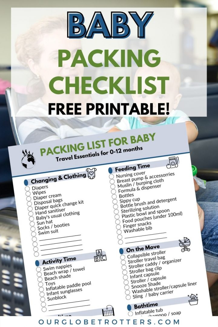 Printable Baby Packing List