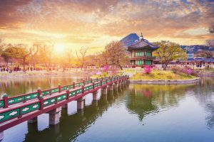 Picturesque view in South Korea