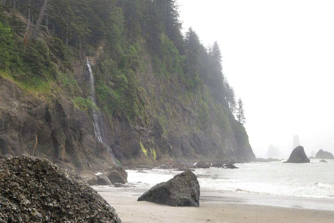 Strawberry bay Falls Third Beach Washington
