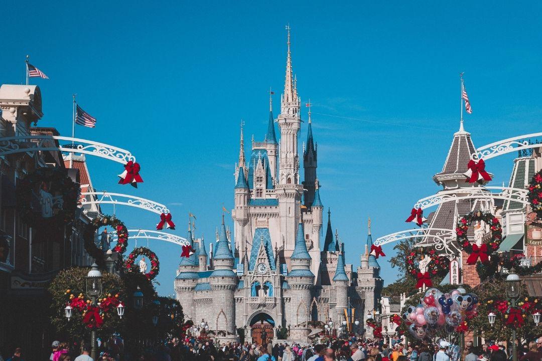 Disneyland California at Christmas