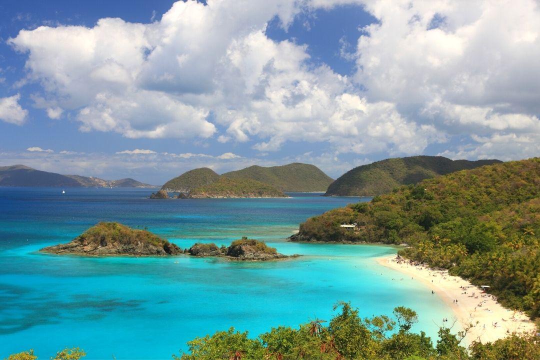 Beach US Virgin Islands in Winter