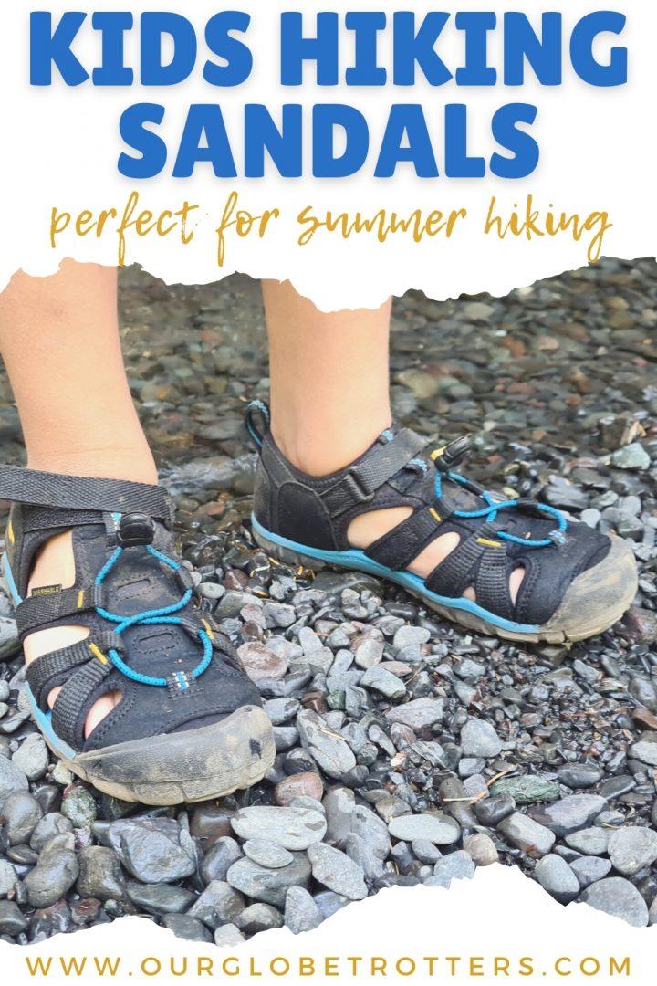Close up hiking sandals - best kids hiking sandals